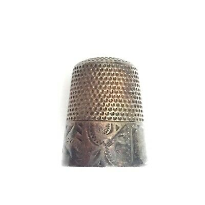 WAITE THRESHER Antique Sterling Silver Thimble