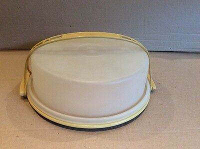 Tupperware VINTAGE ROUND CAKE CARRIER / SERVER with HANDLE
