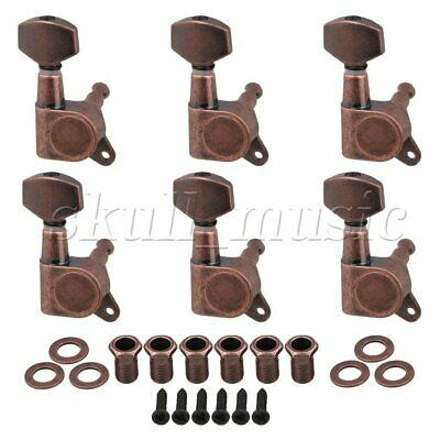 6PCS Bronze Right Full Closed Guitar Machine Heads for Electric Guitar