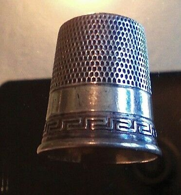 Antique Sterling Silver Thimble size 11