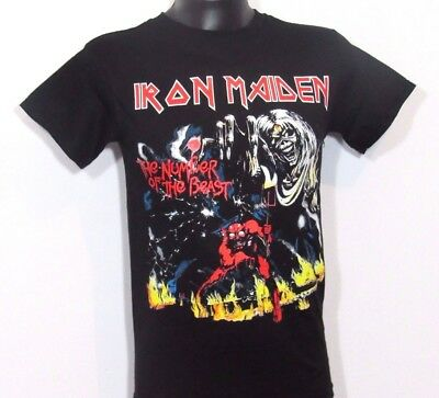 """New!! Iron Maiden """"Number Of The Beast"""" Punk Rock T Shirt Men's Sizes"""