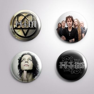 4 HIM VILLE VALO LOVE METAL - Pinbacks Badge Button Pin 25mm 1''