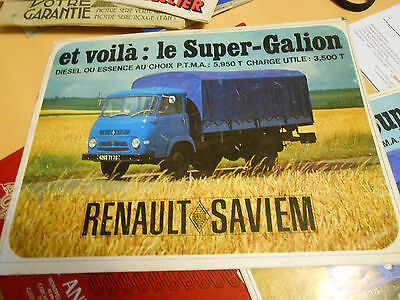 document publicitaire RENAULT SAVIEM super gallion