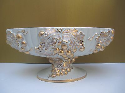 Haeger Gold Tweed Console Bowl
