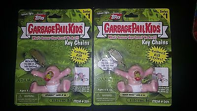 Garbage Pail Kids 2001 Sababa Toys 3A / 3B Upchuck and Heavin' Steven Keychain