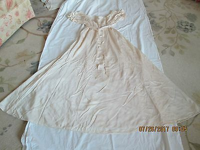 Gorgeous Hand Made Silk Nightgown 1920's? Chantilly Lace Champagne Small-Med