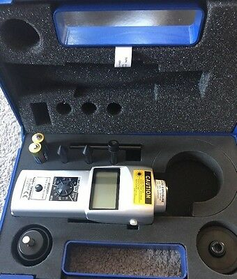 """Shimpo DT205LR Handheld Laser Non-Contact/Contact Digital Tachometer LCD-6""""whee"""