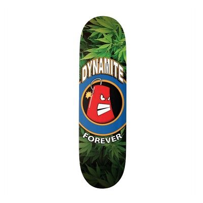 Dynamite Forever Skateboard Deck Iconic Grass Weed 420 FREE GRIP & FREE POST