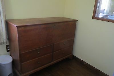 Moving Sale! Antique Primitive New England Pine Blanket Chest/trunk