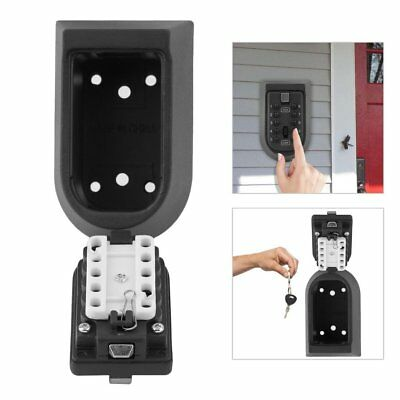 Combination Key Lock Safe Box Outdoor Security Storage Wall Mounted Car & Home