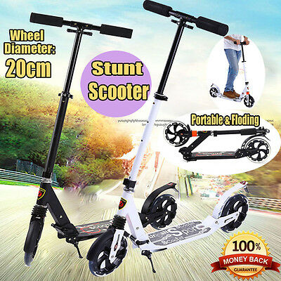 High Quality Commuter Big Wheel Suspension Scooter Adult Child Kid Gift Folding