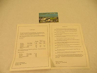 Vintage 1966 Puerto Rico Bacardi Rum Plant Paperwork Pricing Facts Post Card