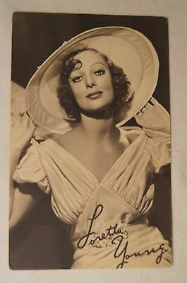 COLLECTABLE - Vintage Postcard - Twentieth Century Studios - Loretta Young