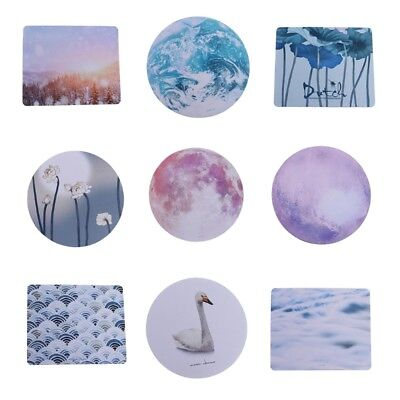 Creative Pattern Small Round Rectangular Non-Skid Rubber Smooth Mouse Mat Pad