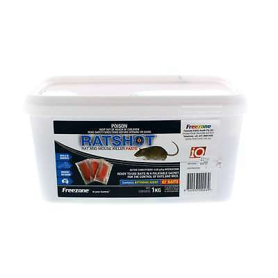 Rat Shot Bait Ratshot Paste in 15g Sachet Difenacoum Past Freezone 1kg