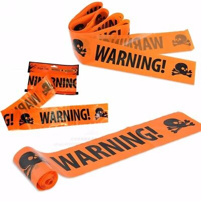 Halloween Party Warning Tape Signs Decoration Window Prop Decoration Plastic