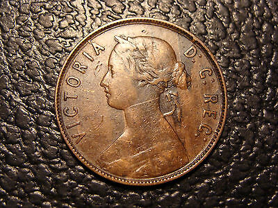 Scarce Original 1865 Newfoundland Canada Cent WE COMBINE ON SHIPPING