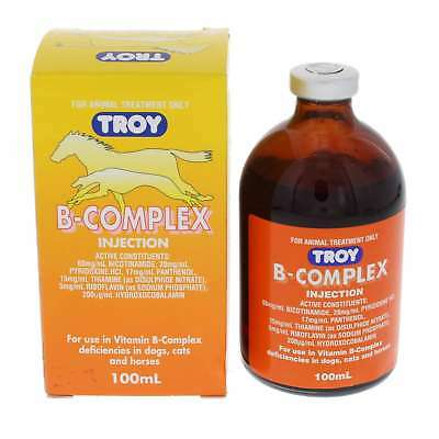 Vitamin B Complex Troy Horse Equine Health 100ml Dogs Cats Intravenous or SubQ
