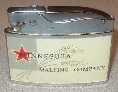 vintage nos minnesota malting company lighter hamms beer schmidt grain belt