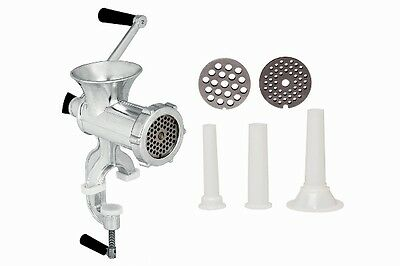 No. 8 Aluminium Meat Mincer Mill Grinder Sausage Maker Stuffing Attachments