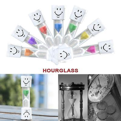 1PC New 2 Minutes Hourglass Kids Toothbrush Timer Smiley Sand Egg Timer Timer BD