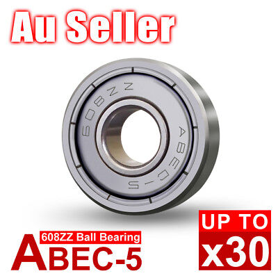 10-30X NEW 608ZZ Ball Bearing PREMIUM ABEC-5 CNC Skateboard 3D Printer RepRap OZ