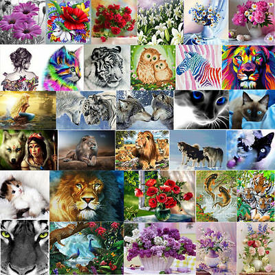 DIY 5D Diamond Painting Animal Flower Embroidery Cross Crafts Stitch Decor