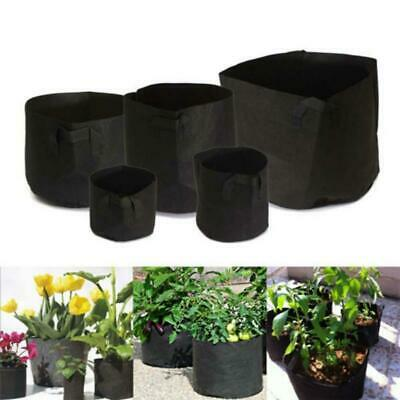 Black Round Nonwovens Pots Plant Pouch Root Container Grow Bag Container Pouch Z