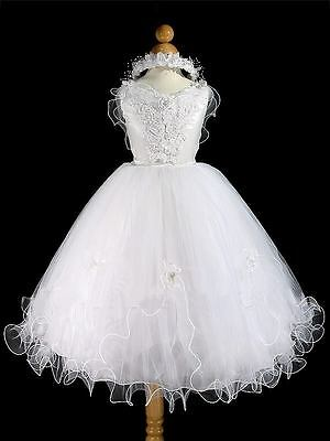 Tinkerbelle First Holy Communion Dress Age 7-8 Years. ***free Matching Halo**