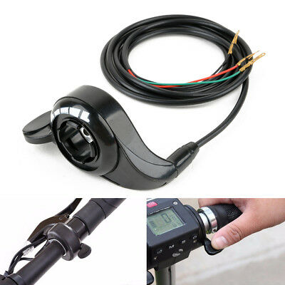 Black Universal Thumb Throttle Speed Control Handle for E-Bike Scooter 3 Wires