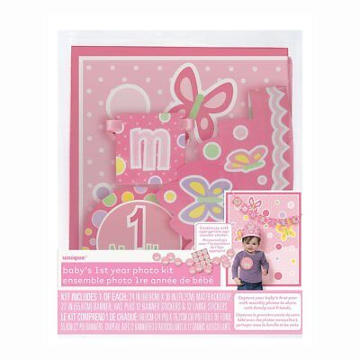 Monthly Baby Stickers & Photography Props - Girl, 27pc