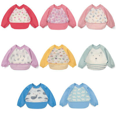 Baby Child Bibs Apron Waterproof Eva Kids Feeding Burp Cloths with Long Sleeves