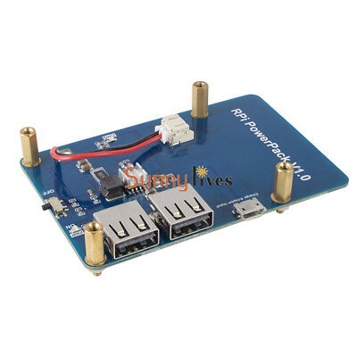 Lithium Battery PowerPack Expansion Board + Dual USB Output for Raspberry Pi3