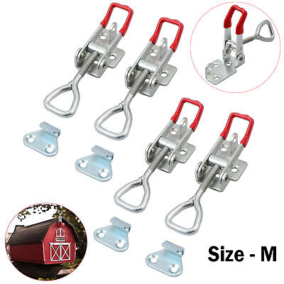 4x OVER CENTRE CATCH LATCH TOGGLE FASTENER LOCK TRAILER TRUCK Stainless Steel M