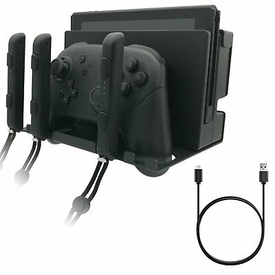 Nintendo Switch Wall Mount Stand Docking Station Holder & Type-C 1.5m Cable
