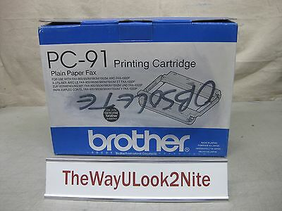 Brother Fax Plain Paper Printing Cartridge PC-91 New Genuine