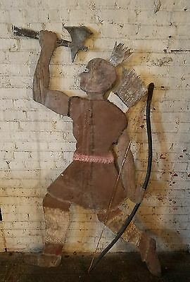 Antique Native American Indian Trade Sign Folk Art