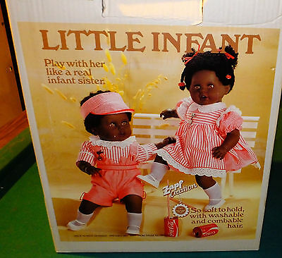1980s Zapf Little Infant African American Jessica Doll West Germany MINT NIB
