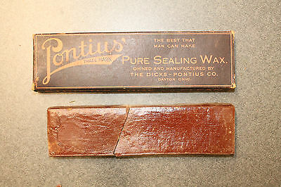 Dayton Ohio Vintage Pontius Pure Sealing Wax The Dicks Pontius Co Canning Wax