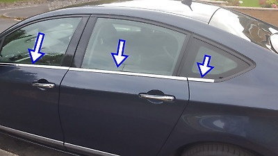 Citroen C-5 2008 ONWARDS chrome windows frame trim 4door 6 pcs S.Steel