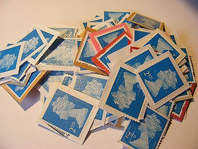 100 2nd class stamps unfranked (lot 736)