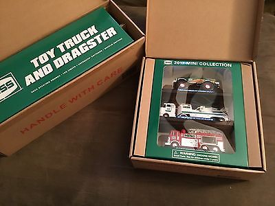 HESS 2016 TRUCK & DRAGSTER AND HESS 2017 MINI TRUCKS. Sold out...Brand New!