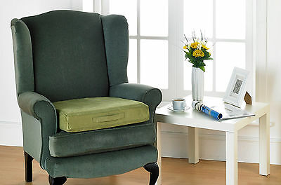 Green Faux Suede Foam Filled Posture Booster Seat Cushions Chairs & Wheel Chairs
