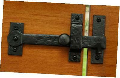 """iron valley - 7.5"""" gate drop bar w/ knob (lever latch) - solid cast iron"""