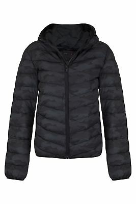 New Kids Boys Camouflage Zipped Padded Hooded Warm Puffer Jacket Coat