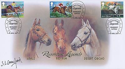 Buckingham Covers Three Kings Horse Racing Signed