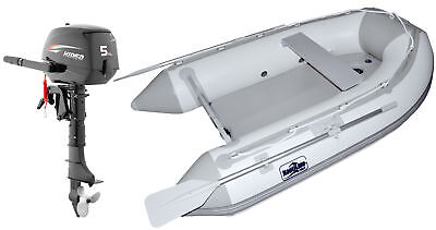 Nautiline inflatable boat Air Mat 320 with Hidea outboard engine - 4 strokes 5 H