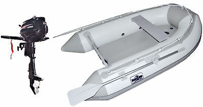 Nautiline inflatable boat tender Air Mat 248 with Hidea outboard engine - 4 stro
