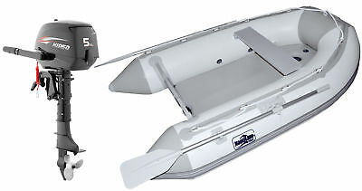 Nautiline inflatable boat AIR MAT 248 with Hidea outboard engine 4 strokes 5Hp #