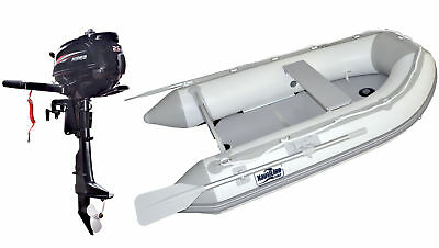 Nautiline inflatable boat tender PLYWOOD 230 with Hidea outboard engine - 4 stro